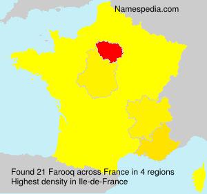 Familiennamen Farooq - France