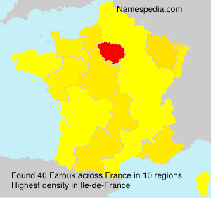 Surname Farouk in France