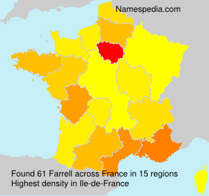Surname Farrell in France