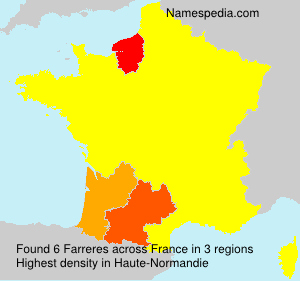Surname Farreres in France