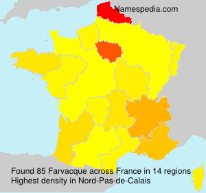 Surname Farvacque in France