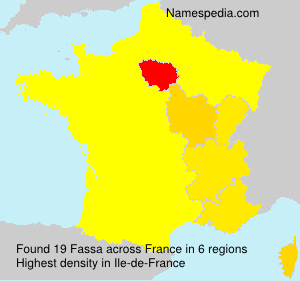 Surname Fassa in France