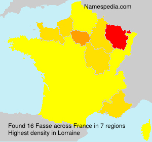 Surname Fasse in France