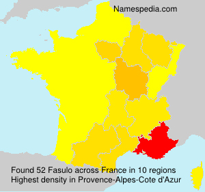 Surname Fasulo in France