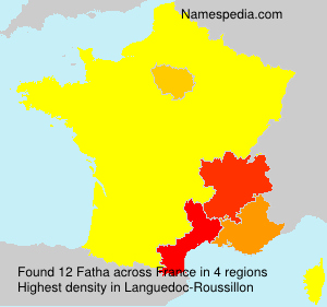 Surname Fatha in France