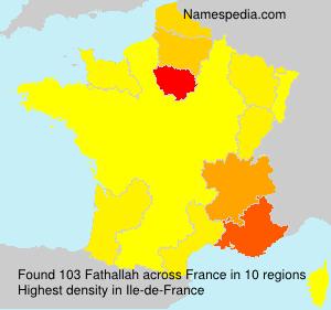 Familiennamen Fathallah - France