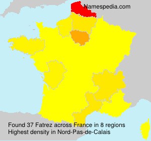 Surname Fatrez in France