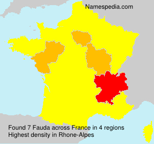 Surname Fauda in France