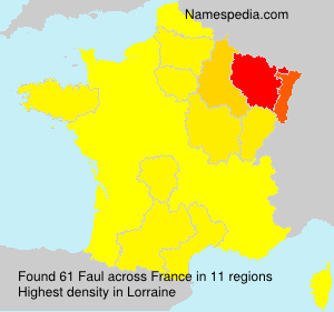 Surname Faul in France