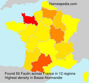 Surname Faulin in France