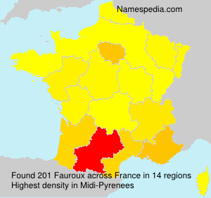 Surname Fauroux in France