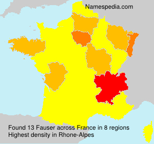 Surname Fauser in France