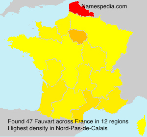Surname Fauvart in France