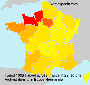 Surname Fauvel in France