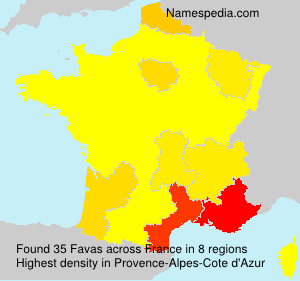Surname Favas in France