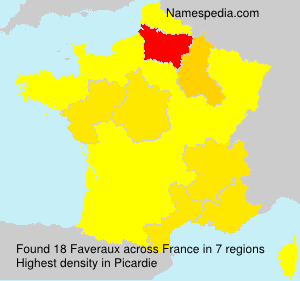 Surname Faveraux in France