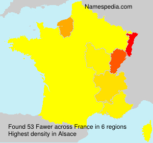Surname Fawer in France