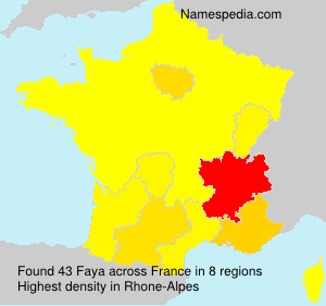 Surname Faya in France