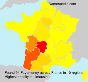 Surname Fayemendy in France