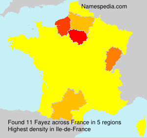 Surname Fayez in France