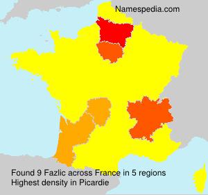 Surname Fazlic in France
