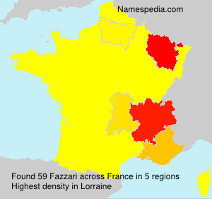 Surname Fazzari in France