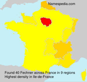 Surname Fechner in France