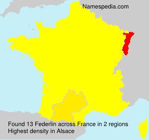 Surname Federlin in France