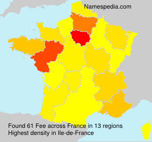 Surname Fee in France