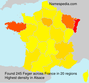 Familiennamen Feger - France