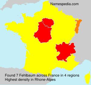 Surname Fehlbaum in France