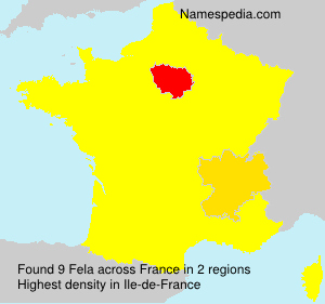 Surname Fela in France