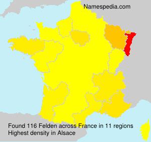 Surname Felden in France