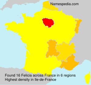 Surname Felicia in France