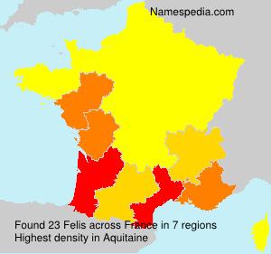 Familiennamen Felis - France