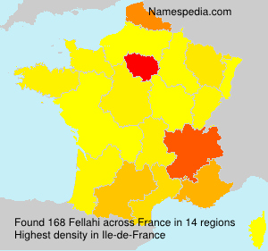 Surname Fellahi in France