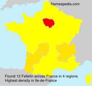 Surname Felletin in France