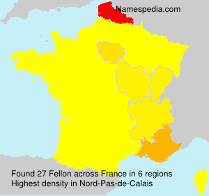 Surname Fellon in France