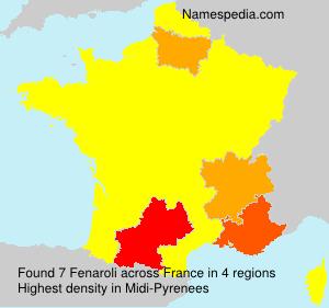 Surname Fenaroli in France