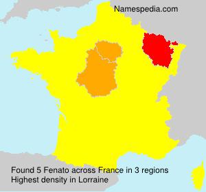 Familiennamen Fenato - France