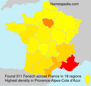 Surname Fenech in France