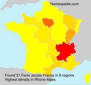 Surname Fenix in France