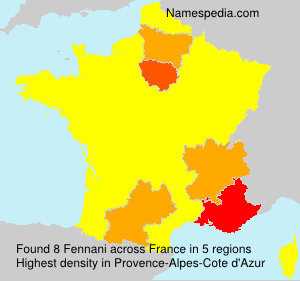 Surname Fennani in France