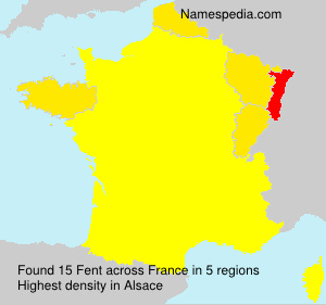 Surname Fent in France