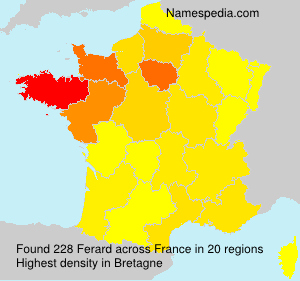 Surname Ferard in France