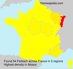 Familiennamen Ferbach - France