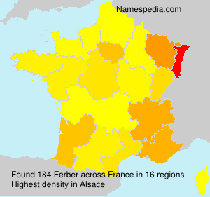Familiennamen Ferber - France