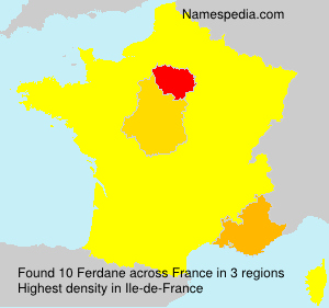 Surname Ferdane in France