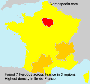 Surname Ferdous in France