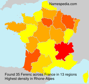 Surname Ferenc in France